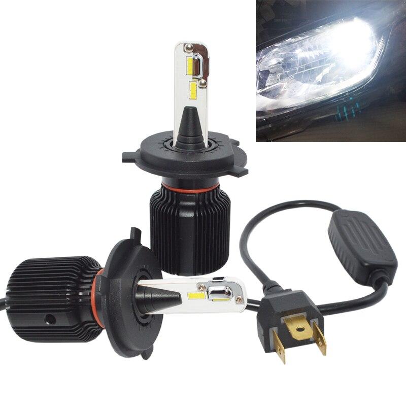 Чрезвычайно яркая светодиодная Автомобильная фара H4, 40 Вт, 6000 лм, K, белая, H4, высокая/низкая яркость, 12 В, 24 В, автостайлинг