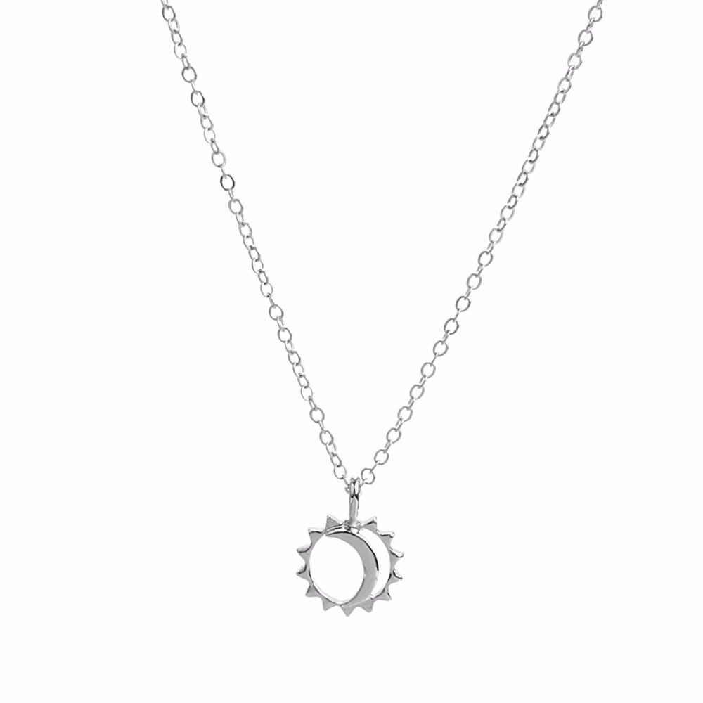 12pcs Fashion Jewelry Reminder Let Your Bright Light Shine Sun and Moon Pendant Necklace