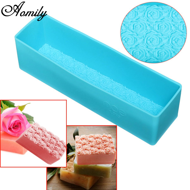 Aomily Rose Toast Silicone Soap Mold Loaf Cake Baking Bread Tools DIY Chocolate Mould Pastry Bread Cake Bakware Tools