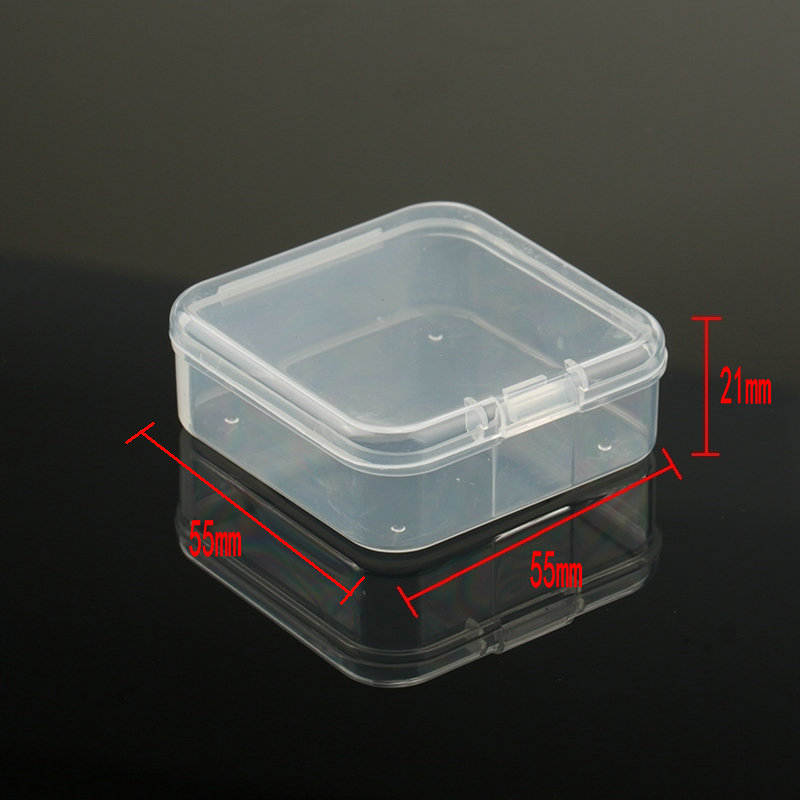 5.5x5.5x2.1cm square Plastic Storage Box Jewelry Container Transparent Square Box Case Container for Jewelry Beads Earrings