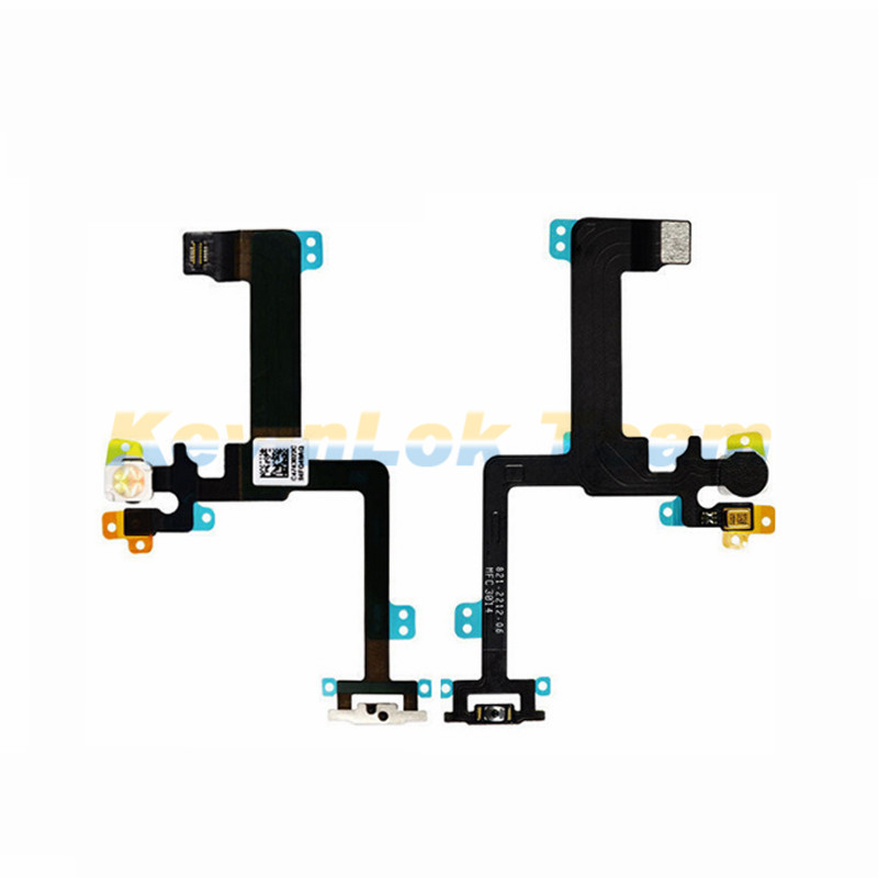 Hot Original High Quality Power Button Flex Cable Ribbon Light Sensor For iPhone 6 Plus Power Switch On / Off Replacement Parts