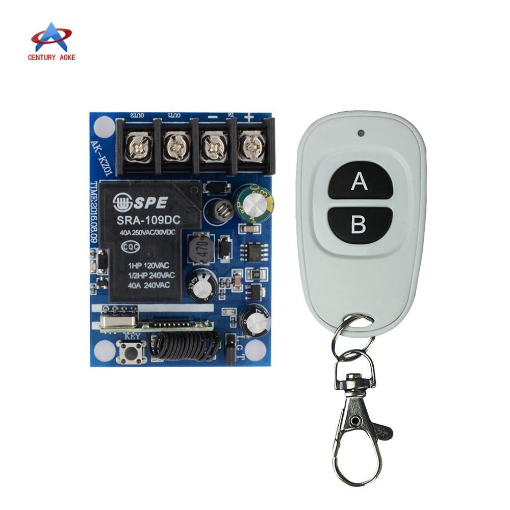 DC12V 16V 22V 24V 30V 48V 40A High Load Remote Switch LED Lamp Motor Waterpump Power Remote ON OFF Car Truck LED Power ON OFF original switch on off power
