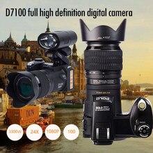 PROTAX – caméra numérique D7100, appareil photo DSLR semi-professionnel de 33mp FHD avec téléobjectif 24x et grand Angle, zoom numérique 8X