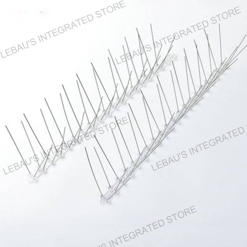 50cm Bird Thorn Garden Orchard Fence Bird Spikes Catcher Repeller Anti-Theft Stainless Steel Pigeon Nails Plastic Base
