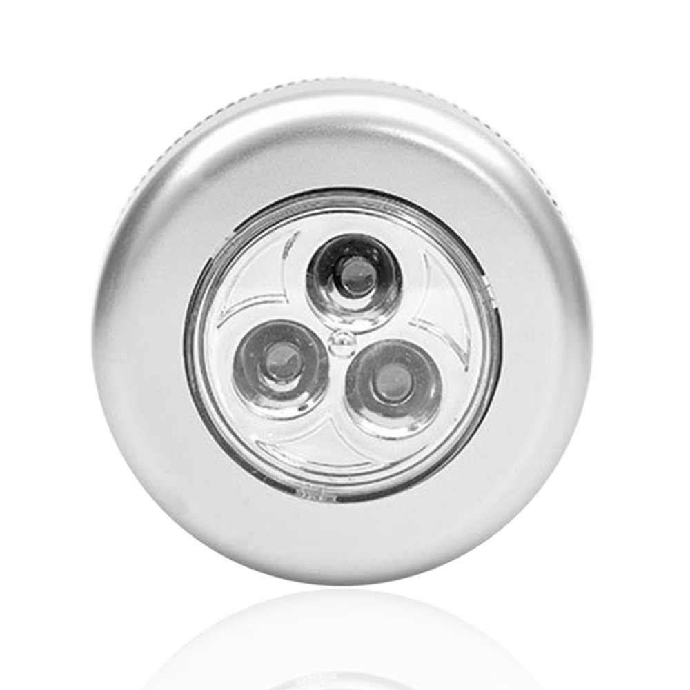 Palo de la lámpara de palmadora 3 LEDs lámpara táctil techo pared/gabinete luz Mini LED luz de noche Sensor de batería de cabecera lámpara de emergencia