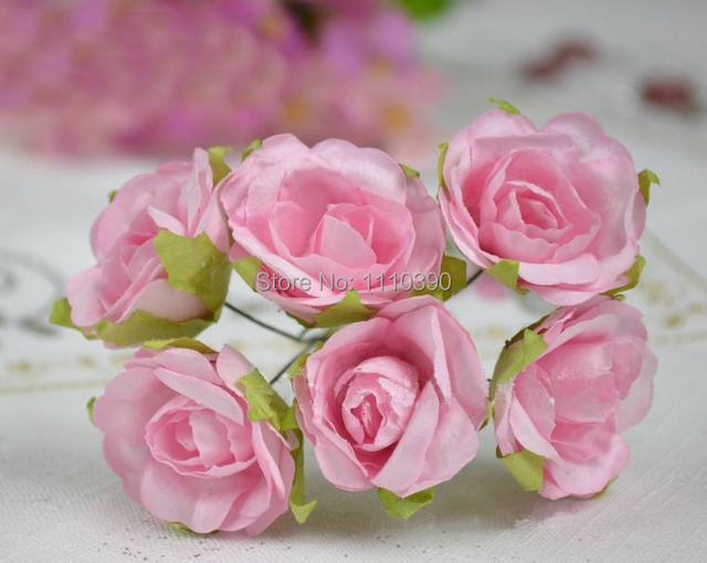 3.5CM artificial wedding bouquets,mulberry paper roses,tissue paper ...