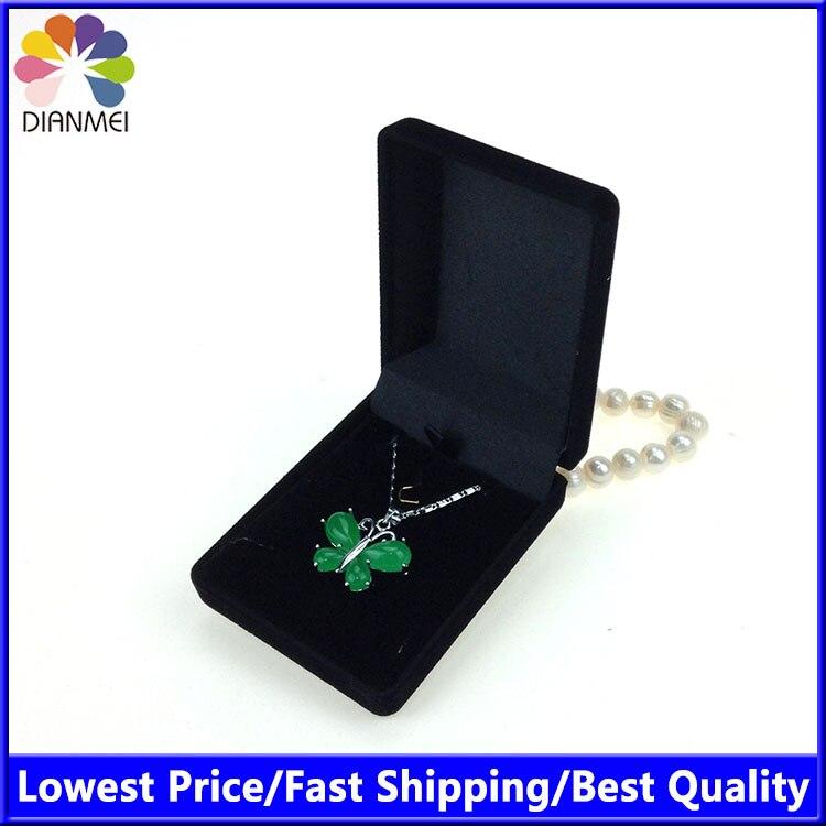Black velvet bijou cheap bracelet necklace jewelry gift for Red velvet jewelry gift boxes