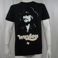 Waylon Jennings Outlaw Country Music Mens T Shirts WAYLON JENNINGS God Guns And Texas t shirt Flag big sizeS XXXL