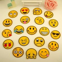 цена на Emoji emoticons cartoon patch child patch cloth clothes pants diy fashion repair applique embroidery smiley