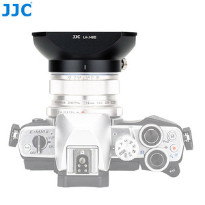 Image 3 - Jjc LH J48II 카메라 올림푸스 m. zuiko 디지털 ed 12mm f/2.0 렌즈 용 후드 캡이있는 블랙 렌즈 후드 olympus LH 48 대체