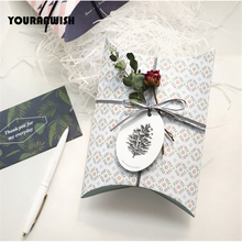 10Pcs/Lot 140x190mm Pillow Gift Box Wedding Party Favor Paper Gift bag Baby Shower Candy Box package wedding favors