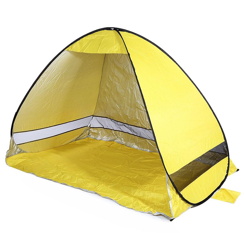 Prix pour Automatique Soleil Abri Camping Plage Tente Tabernacle Soleil Abri Rapide Automatique Quatre-saison Tente Unique Résistant À L'eau