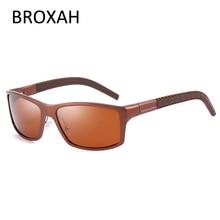 Polarized Sunglasses Men 2019 High Quality Aluminium Magnesium Frame Driving Glasses Square Okulary UV400 Gafas De Sol Hombre цена и фото