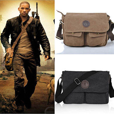 Men's Vintage Casual Canvas Shoulder Bags Messenger Man Satchel Boy School Book Bag Rucksack 4