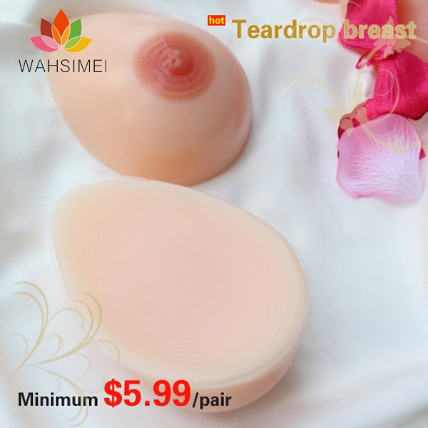 Free shipping !500g/pcs for B cup silicon breast prosthesis,biggest silicon breast form,breast implants manufacturer