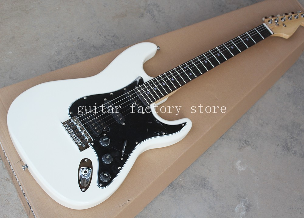 Custom ST Guitar Black 6 Strings Electric Guitar rosewood Fingerboard Stratocaster Musical Instruments,free shipping