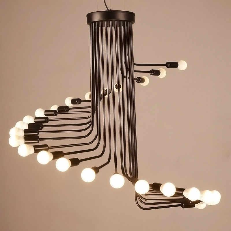 L3-Creative арт Лофт ретро спиральные лестницы люстра гостиная бар кабинет офисный подвесной светильник
