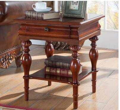 American Sofa Edge Cabinets Living Room Round Corner A Few Coffee Table Solid Wood European Handrail Cabinet Storage