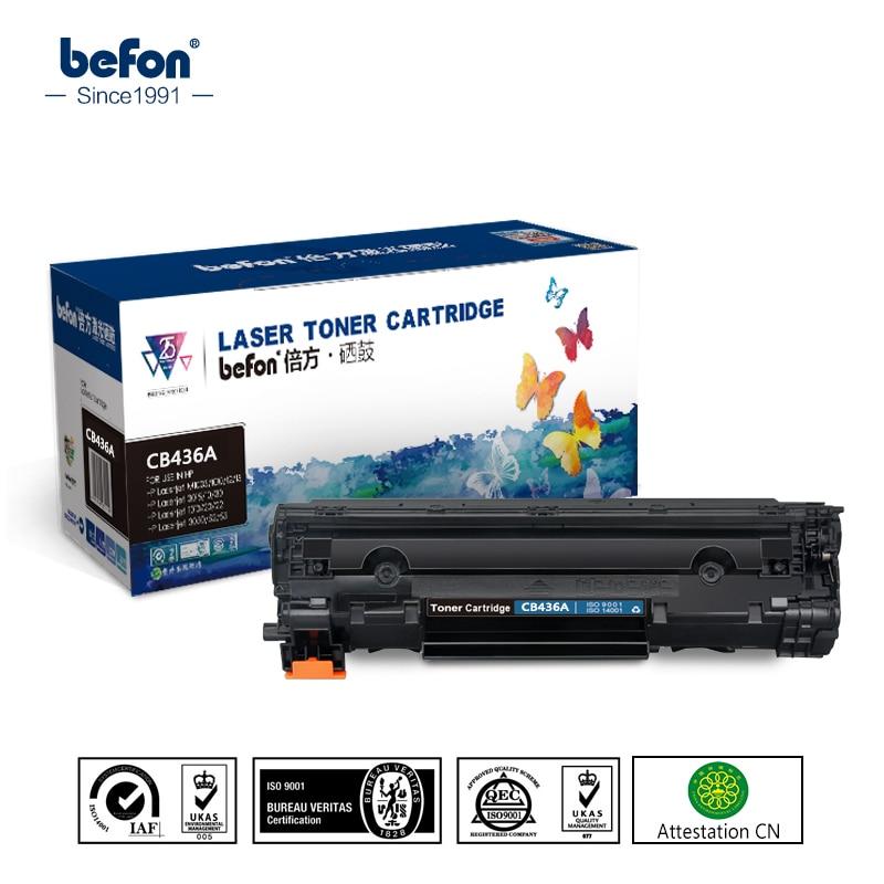 Befon CB436A 436A 436 картридж совместимый для HP P1505 1505N M1120 M1522N M1522NF CB436A тонер-картридж