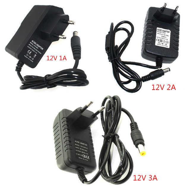 адаптер питания DC 12 В 1A 2A 3A 12 В блок питания адаптер Регулируемый 5 В переходник Зарядное устройство переключения питания 110 220 В до 12 В ЕС США Разъем для светодиодные лампы светодиоды 12вольт