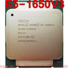 Intel Xeon CPU E5 1650V3, SR20J, 3,50 GHz, 6 núcleos, 15M, LGA2011 3, V3, versión oficial, procesador E5 1650V3, envío gratis, E5 1650 V3