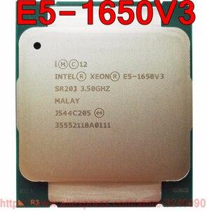 Image 1 - Intel Xeon CPU E5 1650V3 SR20J 3.50GHz 6 Çekirdekli 15M LGA2011 3 E5 1650 V3 resmi sürümü işlemci E5 1650V3 ücretsiz kargo E5 1650 V3