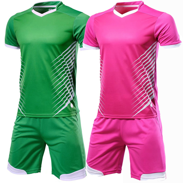 86d89554073 Professional Custom Men 2018 Soccer Jerseys Set Uniforms Clothes Kit Team  game Training Breathable Football Shirt