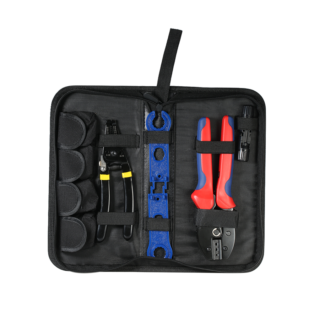 Solar Crimping Tool set hand tools Wire Stripper + Cable Crimper + MC4 Wrench + Solar Connectors Stripping & Crimping toolkit 3 in 1 multi tool automatic adjustable crimping tool cable wire stripper cutter peeling pliers repair hand tools diagnostic tool