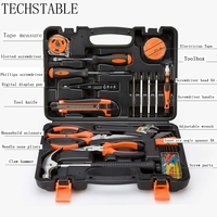 TECHSTABLE 45PC high quality Home Tools Combination Household Tool Set Hand Tools repair tools