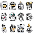 WYBEADS Unique Silver Charm Cute Animal Charms European Fit Bracelets & Bangles DIY Accessories Jewelry Original Making
