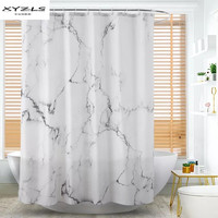 XYZLS Waterproof 3D Shower Curtain Marbling Printed Polyester Bath Screens Curtains for Bathroom Home Decor Bathroom Products