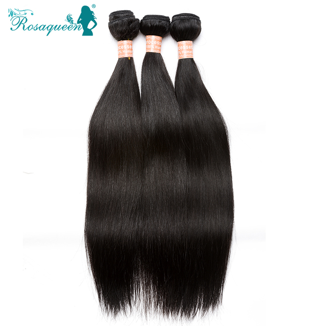 Rosa Queen Hair Products Mongolian Straight Hair Weave Cheap 6A Grade Human Virgin Hair 100% Unprocessed Human Hair Extensions