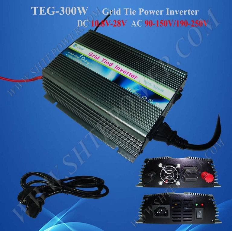 цена на Micro 10.8-30v to 110v 120v 220v 230v 300w grid tie dc to ac solar inverter