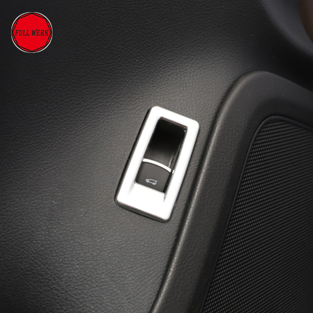 SS Alu Alloy Car Styling Trunk Control Switch Trim Cover for VW Touareg 2011-2018 Trunk Door Switch Button Sticker Decoration