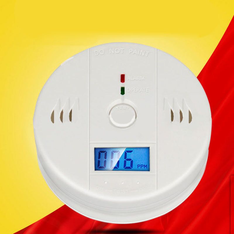 LCD CO Carbon Monoxide Poisoning Gas Warning Sensor Detector for Home Safety