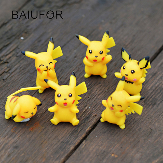 Anime Pokemon Pikachu, Fairy Garden Miniature Mini Garden Decoration ...