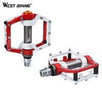 WEST BIKING Bicycle Ultralight Pedal Aluminum Alloy MTB Road Bike Pedals Cycling Pedals Sealed Bearing Pedals