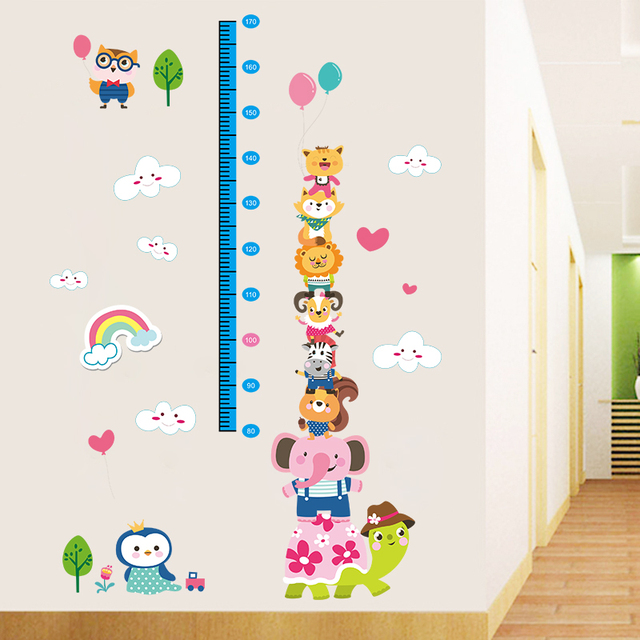 can remove children height wall stickers baby height feet stickers