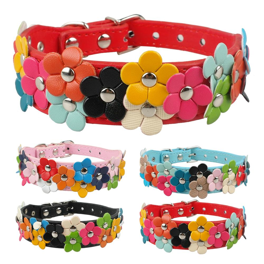 Compare prices on dog collar pink online shoppingbuy low price flower studded leatrher dog collar cute dogs necklaces pet collars small medium pinkblack dhlflorist Choice Image