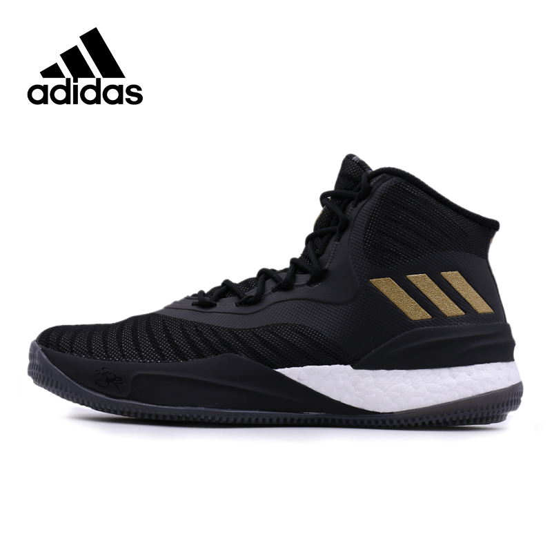 9889694be Official Adidas Culture Rose 8 Men's High Top Black Gold Male Basketball  Shoes New Arrival Rubber DMX Adidas Sneakers for Men-in Basketball Shoes  from ...