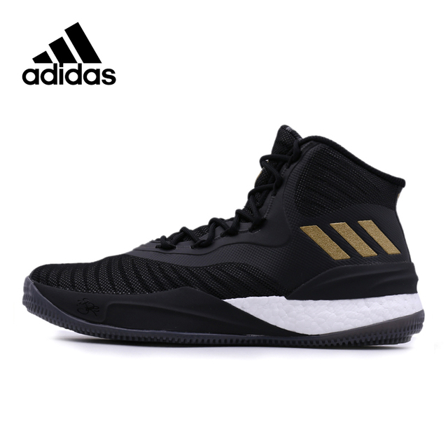 brand new a41fa ea146 Official Adidas Culture Rose 8 Men s High Top Black Gold Male Basketball  Shoes New Arrival Rubber DMX Adidas Sneakers for Men
