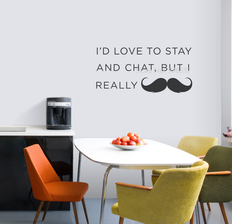 I Really Mustache Art Wall Decal Quotes Mustache Funny Wall Stickers Bedroom Removable Office Decoration Classroom Decor ZA625