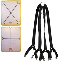 High Quality Bed Sheet Straps Suspenders with Metal Clip Crisscross Adjustable  Fasteners Mattress