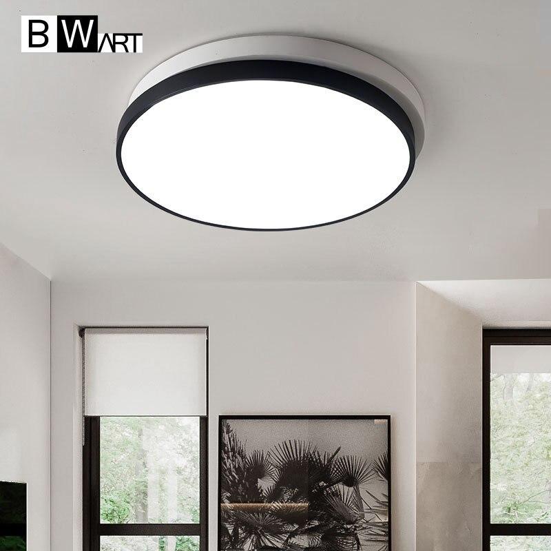 Black White round Modern LED Ceiling light Creative modern led ceiling lamp fixture for living room
