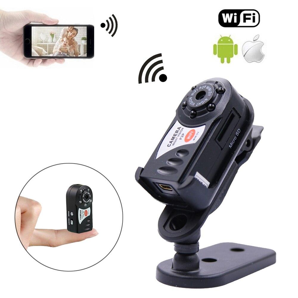 P2P Control inalámbrico Mini WiFi Cámara 480 p para IOS android de la visión nocturna IR Micro Video DV Recorder cámara secreta