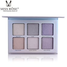 Miss Rose Brand 6 Color Makeup Face Highlighter Powder Brighten Bronzer Contouring Palette Glow Kit