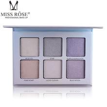 Miss Rose Brand 6 Color Makeup Face Highlighter Powder Brighten Bronzer Contouring Palette Glow Kit