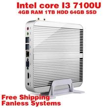 Мини-ПК Intel 7e Gen Кабы Lac Windows 10 i3 7100U 4 ГБ ОПЕРАТИВНОЙ ПАМЯТИ 1 ТБ HDD 64 ГБ SSD Графический 620 300 М Wi-Fi TV Box Бесплатная Доставка usb