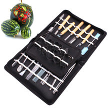 Newest 46 Pcs/Set Stainless Steel Watermelon Cutting Slicing Vegetable Fruit Carving Tool DIY Assorted Cold Dishes Tools Hot Sa