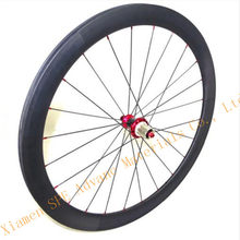 Ruote ciclocross in carbonio carbone roue 50mm pneu Powerway R36 Hub Ultra-light 700C COPERTONCINO/STRAIT Tirare Hub wheelset del carbonio(China)